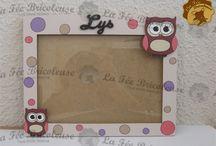 Cadres photos en bois / Cadre photos en bois, entièrement fait à la main. 100% personnalisable, proposition en image du rendu