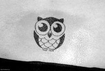 tatuaggio gufetto