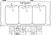 Kindergarten Literacy - Diagraphs and blends