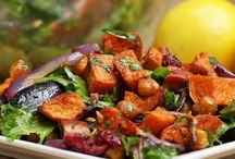 Sweet potato & chick pea salad