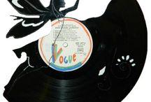 Sculptures de disques vinyles