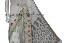Chikankari Cotton Sarees / Handcrafted Cotton Saree from Ada Chikan  #Chikankari #Lucknow #Ethnic #Fashion