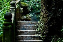 escaliers, murets et allées extérieurs