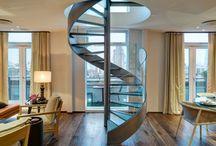 Loft spiral staircase