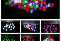 "Mini Party Balls with Party Dots / Mini Party Balls are a small latex 5"" air filled balloon with a Party Dot inside. Perfect for balloon drops, pool scatters, dance floor scatters, and so much more.  For more ideas on Party Dots see www.partydotsonline.com"