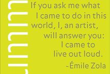 UMMA Quotes / Looking for some inspiration or words of wisdom from your favorite artists? You've come to the right place.