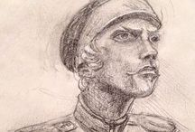 graphics / hand draw grapics - pencil, marker, pastels