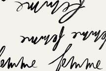 | typography handwritten