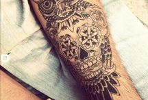 Tatouages de crâne mexicains