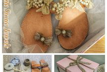 Wedding Sandals by Little Stone Jewels / Handmade Wedding Sandals For The Bride And Her Bridesmaid