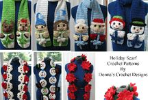 Scarf Crochet Patterns / My flower, Christmas, etc scarf patterns.