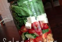 Salad...in a Jar / With a little planning and a few fresh ingredients a healthy lunch is always at your fingertips.