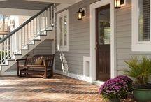 Farmhouse Exterior Grey Design Ideas, Pictures