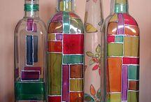 renkli şişeler