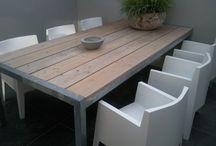 Tuin tafel + stoelen