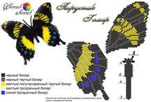 MOTYLE, beading, bead crochet, butterfly