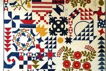 Block of the month / These block of the month kits includes pattern and fabrics. Available in our quiltshop