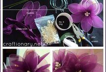 nylon stocking flowers
