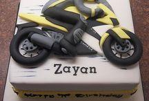 motorbike_cake, cookies and cupcakes