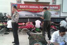 Patut Diacungi Jempol, TNI Polri Di Kediri Bareng Donorkan Darah