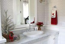 decor Christmas bath