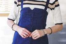 casual dress for hangout / korean dress