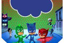 """KIT DIGITAL FREE """"PJ MASKS"""" / http://digitalsimples.blogspot.com.br/2016/03/kit-digital-free-aniversario-pj-masks.html"""