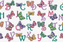 keresztszemes betűk
