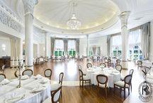 Sala Balowa / Ballroom / Niepowtarzalna, wytworna, elegancka, z kopułą wspartą na monumentalnych kolumnach, z widokiem na niesamowity ogród... / Where tradition meets with elegance.