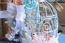 Bird Cages & Flowers   Klatka dla ptaków i kwaty