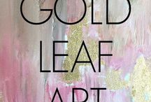 Gold leaf art