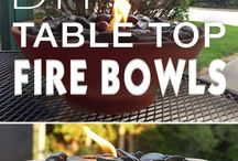 Tabletop Glass Fire Bowls