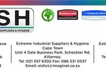 Extreme Industrial Supplies & Hygiene / Extreme Industrial Suppliers & Hygiene is master distributor for three of the world's largest washroom and commercial cleaning products companies, trade mark holder of PMAT, TCLIP, ECO DOME, PSTRIP, Trough Mat, and African agent for Fresh Products, an enterprise that provides green and environmentally friendly washroom solutions.