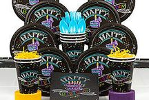 Chalkboard Party Ideas and Supplies / Chalk it up to your own creativity! This board is full of party supplies and ideas for a Chalkboard party.