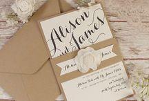 Partecipazioni, inviti e guestbook / Idee e ispirazioni per le vostre partecipazioni di nozze e per il guestbook! Tutte da copiare!