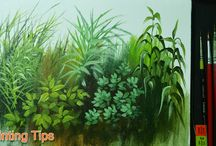 how to paint grasses