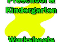 Preschool Worksheets / Preschool worksheets, coloring pages and printables for teaching pre k kids.