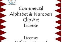 Commercial Alphabet & Numbers Clip Art License {LIFETIME LICENSE} - 303 Images / Commercial Alphabet & Numbers Clip Art. ***LIFETIME LICENSE*** EYE-CATCHING Alphabet and Numbers Clip Art. I hope you'll enjoy using these Alphabet and Numbers Clip Art images for your TpT covers, websites, blogs, scrapbooking, newsletters, bulletin boards, and more.  ******************************************************************************