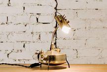 steampunk table lamp rustic vintage