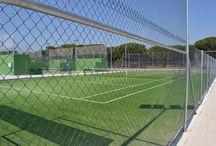 Hierba , Césped artificial / Hierba, Césped artificial AQUATIC® construye la primera pista de tenis en 1970 http://aquaticproyect.com/hierba-artificial/