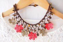 Crochet oya necklace