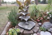 Brunnen aus Blättern