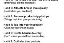 Habits improves productivity