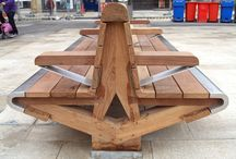Cathedral Square Project (Peterborough) / Factory Furniture, in association with LDA Design, created several pieces of unique urban furniture for Cathedral Square in Peterborough