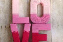 ideas letras con lana