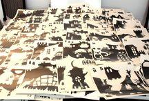 """Once Upon - A Castle / Once Upon è una nuova linea di adesivi componibili per comporre a proprio piacimento una decorazione unica, componi la tua """"Città Adesivile"""" con i wall sticker """"A Castle"""""""