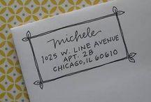 Bruiloft - envelop vd uitnodiging