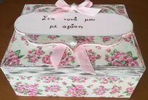 Ξύλινα κουτιά χειρο-ποιηματακια