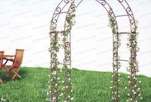 Arches Kiosques Pergolas / Une sélection de nos créations originales en ferronnerie Made in France. Des arches de belle qualité pour agrémenter votre jardin et soutenir vos plantes grimpantes. Des kiosques de jardin pour y disposer table et chaise et recevoir vos invités