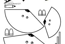Craft for kids / paper craft for kids, templates